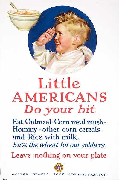 Little Americans Do Your Bit Original American World War One Poster
