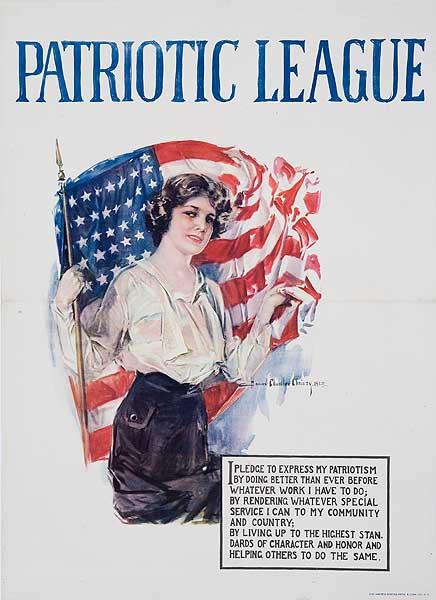 Patriotic League Original American World War One Poster