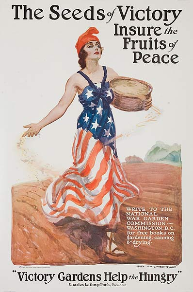 The Seeds Of Victory Original Vintage World War One Victory Garden Poster