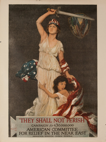 They Shall Not Perish Original American WWI Homefront Poster