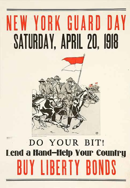 New York Guard Day Original WWI Bond Poster