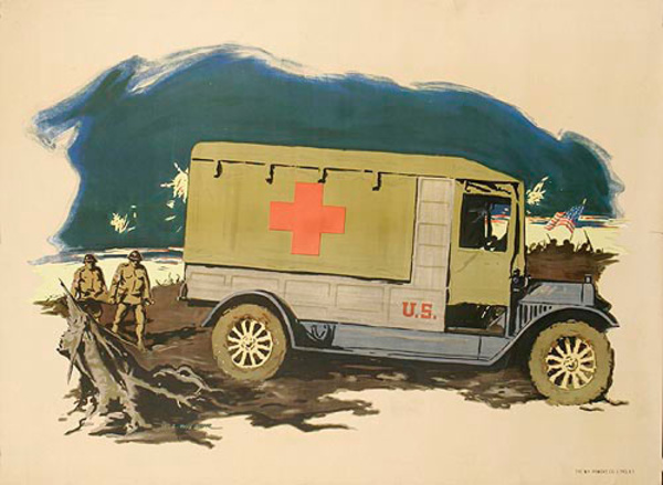 Ambulance Scene Original World War  One Poster