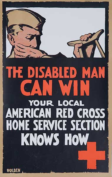 The Disabled Man Can Win Original WWI Poster