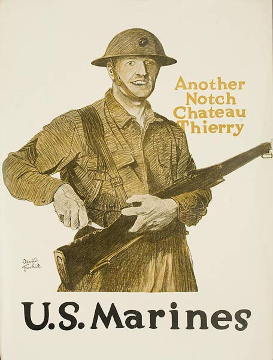 Another Notch Original American WWI Marine Recruiting Poster