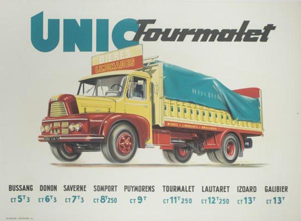 Unic Truck Original Vintage Poster Bierres