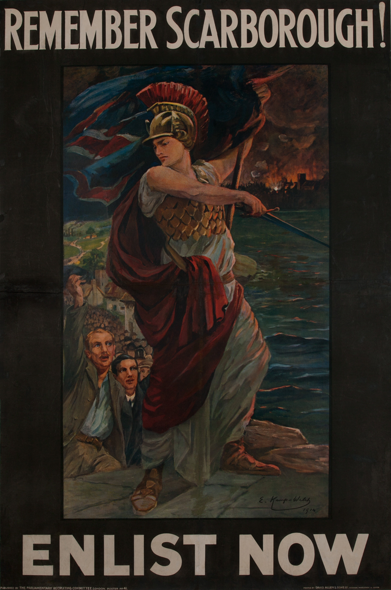 Remember Scarborough<br> WWI Parlimentary Recruiting Poster
