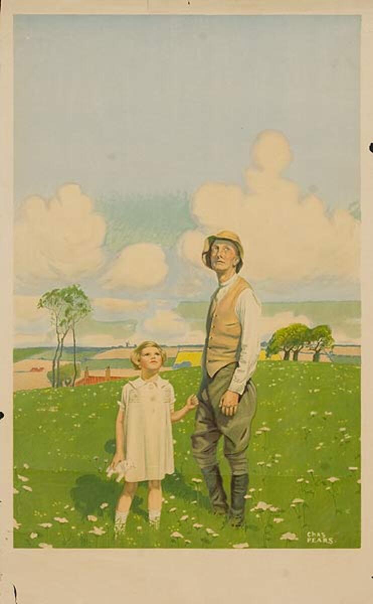 The Lark  Original Vintage British World War One Poster