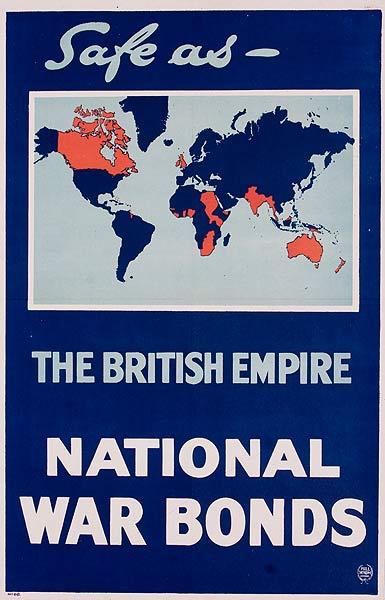 Safe As the British Empire National War Bonds Original British WWI Poster