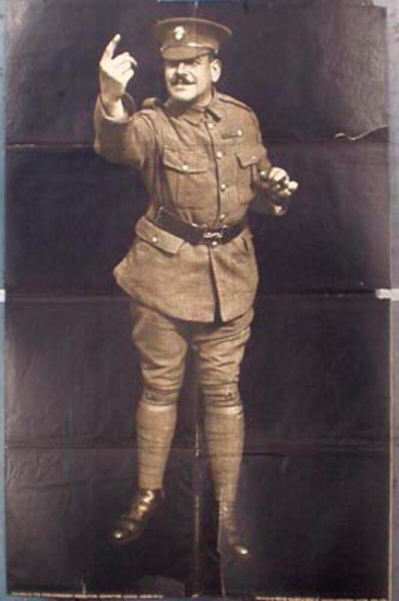 Recruiting Sergeant Original Vintage British WWI Poster