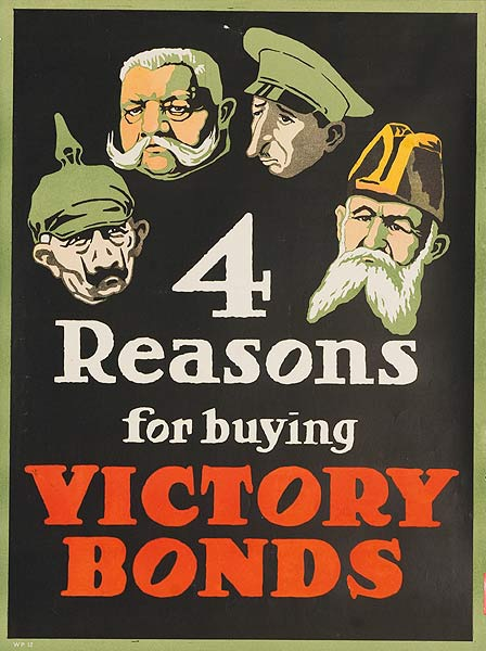 4 Reasons For Buying Victory Bonds Original Canadian WWI Poster