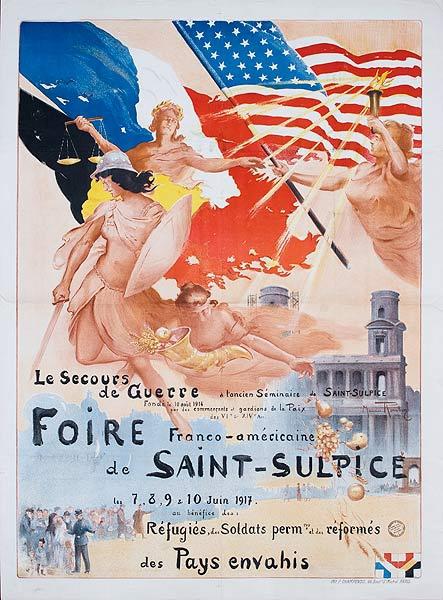 Original French WWI Poster Foire de Saint Suplice