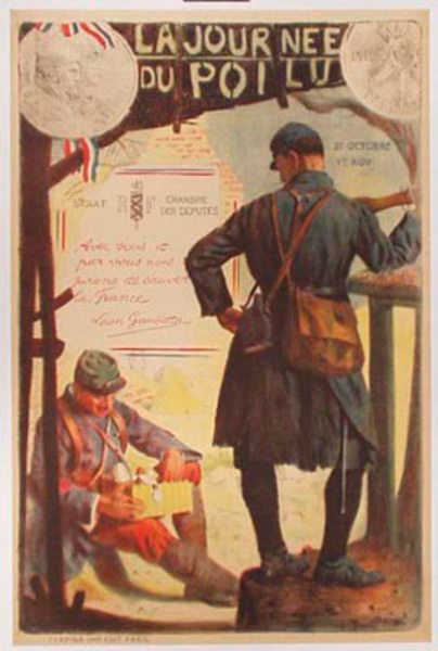 Journee Poilu Original Vintage French WWI Poster