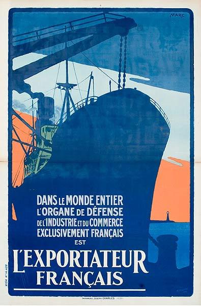 L'Exortateur Francais Original Vintage French WWI Poster