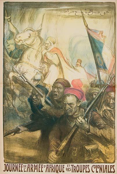 Journee de'l Armee d'Afrique et des Troupes Coloniales Original French WWI Poster