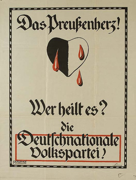 German National Peoples Party Original Political Poster Who Will Heal This