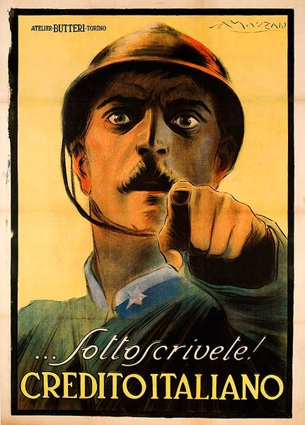Sottoscrivete Credito Italiano Original Italian World War One Poster