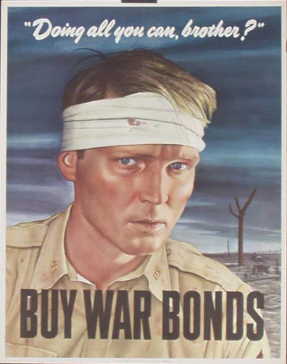 Doing All You Can Brother? Original WWII Bond Poster