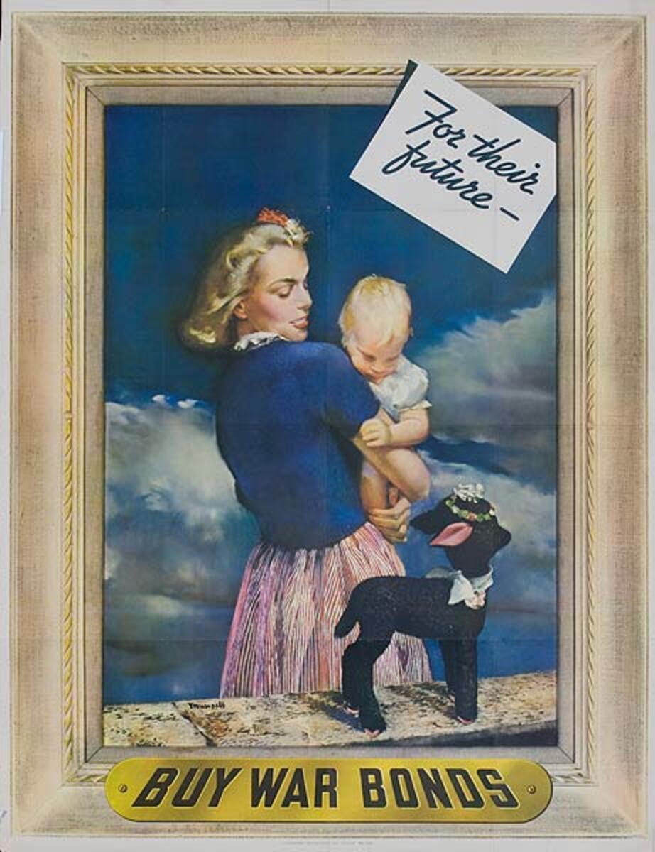 For Their Future Buy War Bonds Original WWI Poster, dog