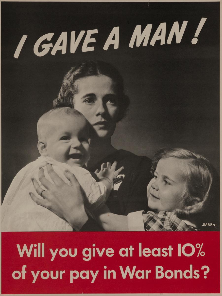 I Gave a Man Original Vintage WWII Poster