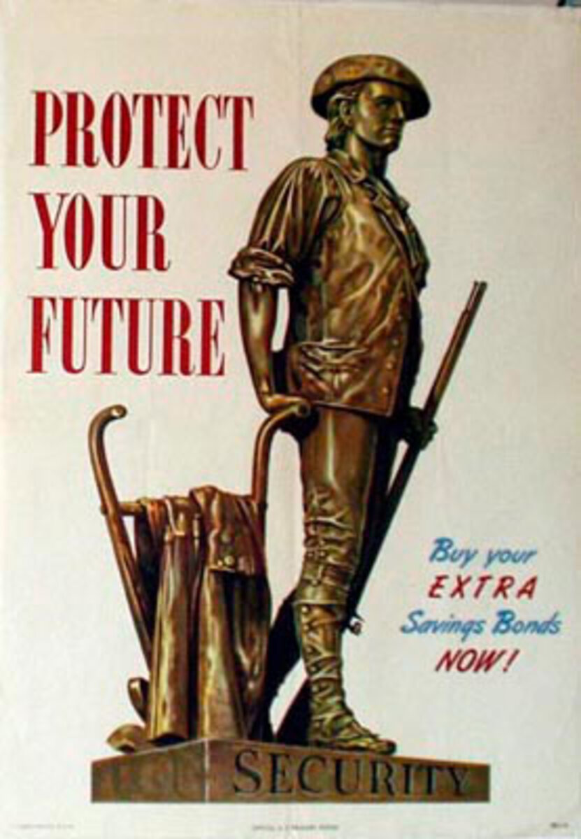 Protect Your Future Original Vintage WWII Poster