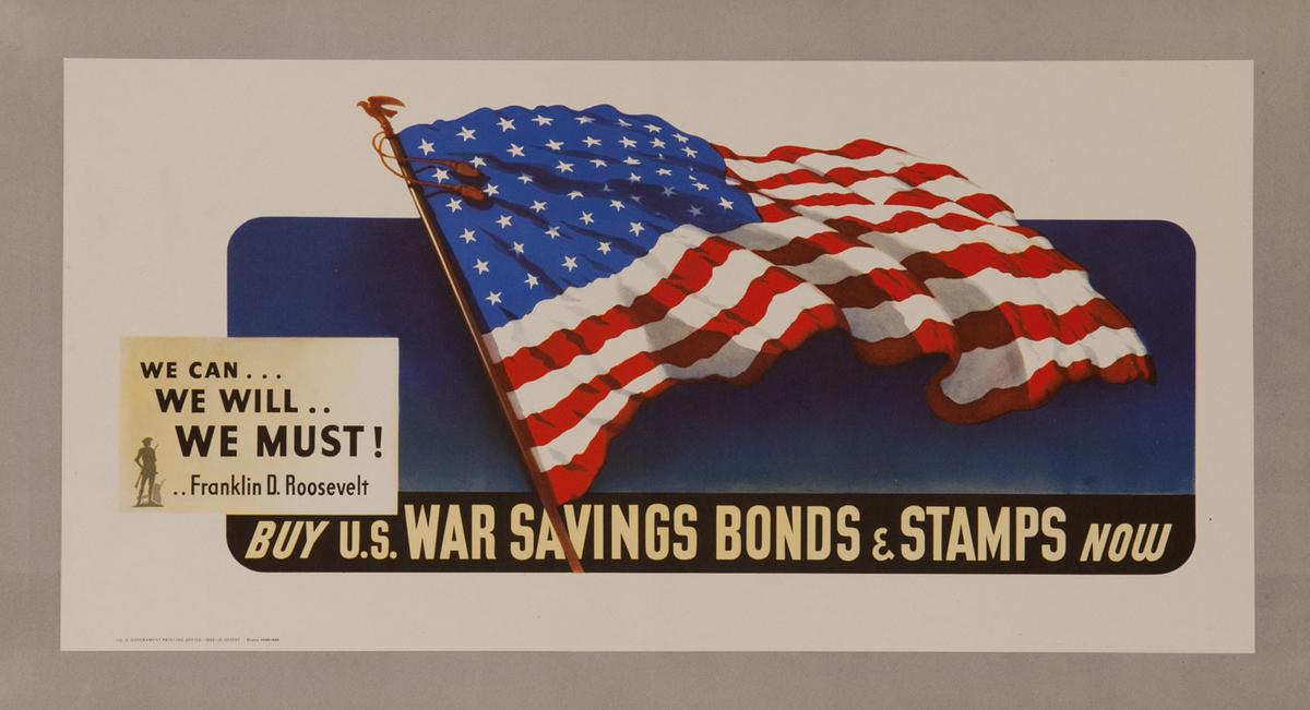 Buy US War Savings Bonds & Stamps Now Original WWII Poster