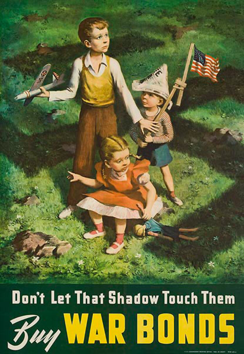 Don't Let That Shadow Touch Them, WWII Bond Poster, small size