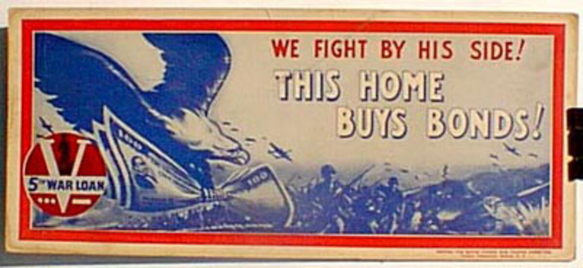 This Home Buys Bonds Original Vintage WWII Poster