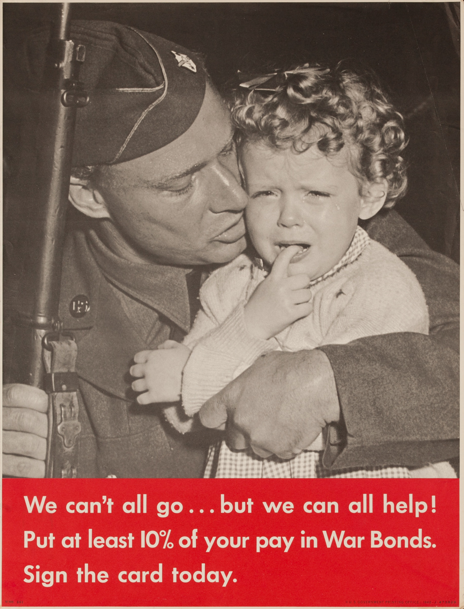 We Can't All Go Original WWII Bond Poster