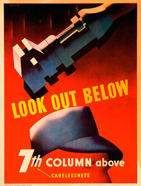 Look Out Below Original WWII Poster