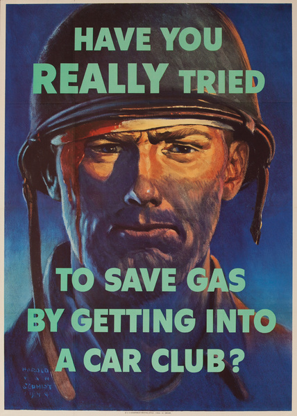 Have You Really Tried to Save Gas Original WWII Poster, small size