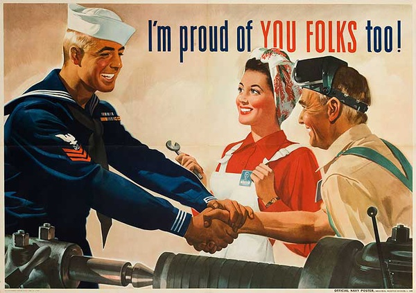 I'm Proud of You Folks Too Original American World War Two Homefront Poster