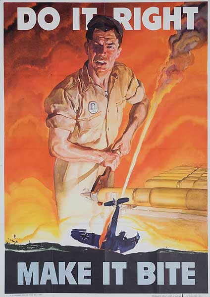 Do It Right Make It Bite Original WWI Homefront Poster
