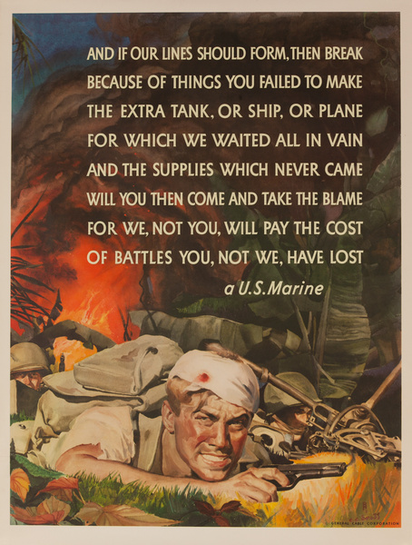 And If Our Lines Should Form and Break Original US WWII Poster