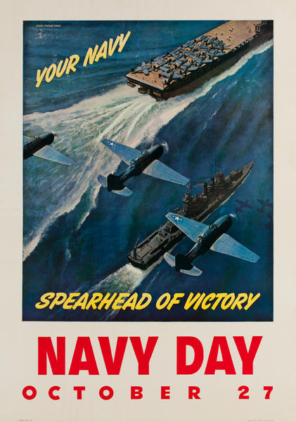 Navy Days 1943 Original American WWII Poster