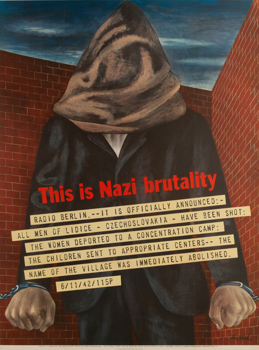 This Is Nazi Brutality Original Vintage WWII Poster