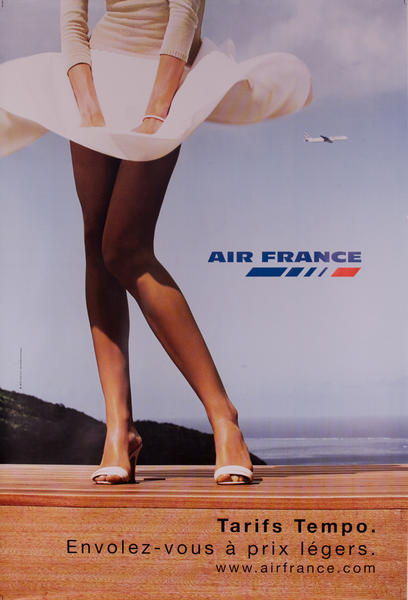 Air France Legs Blown Skirt Original Poster