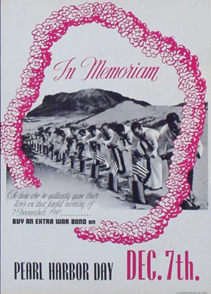 Pearl Harbor Day December 7 Original Vintage Propaganda Poster