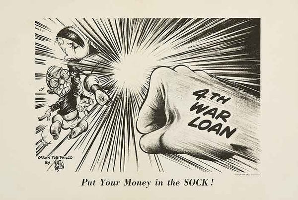 Put Your Money in the Sock, Original WWII Philco Homefront Poster