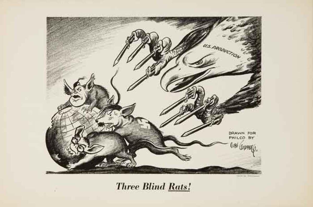 Three Blind Rats!, Original WWII Philco Propaganda Poster