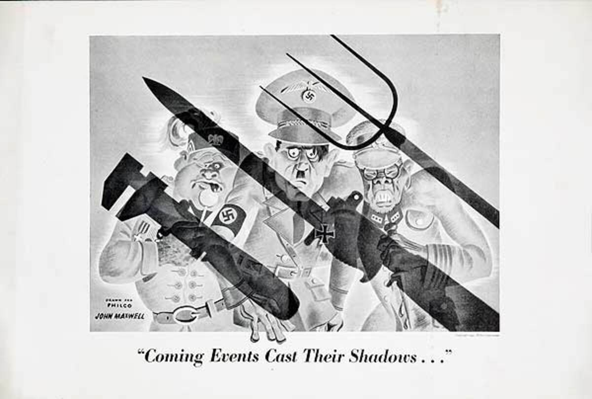 Coming Events Cast Their Shadow Original WWII Philco Homefront Production Poster