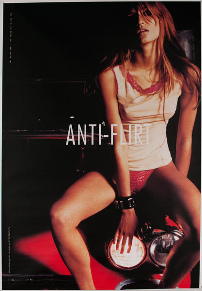 Anti Flirt Clothing red Original Vintage Poster