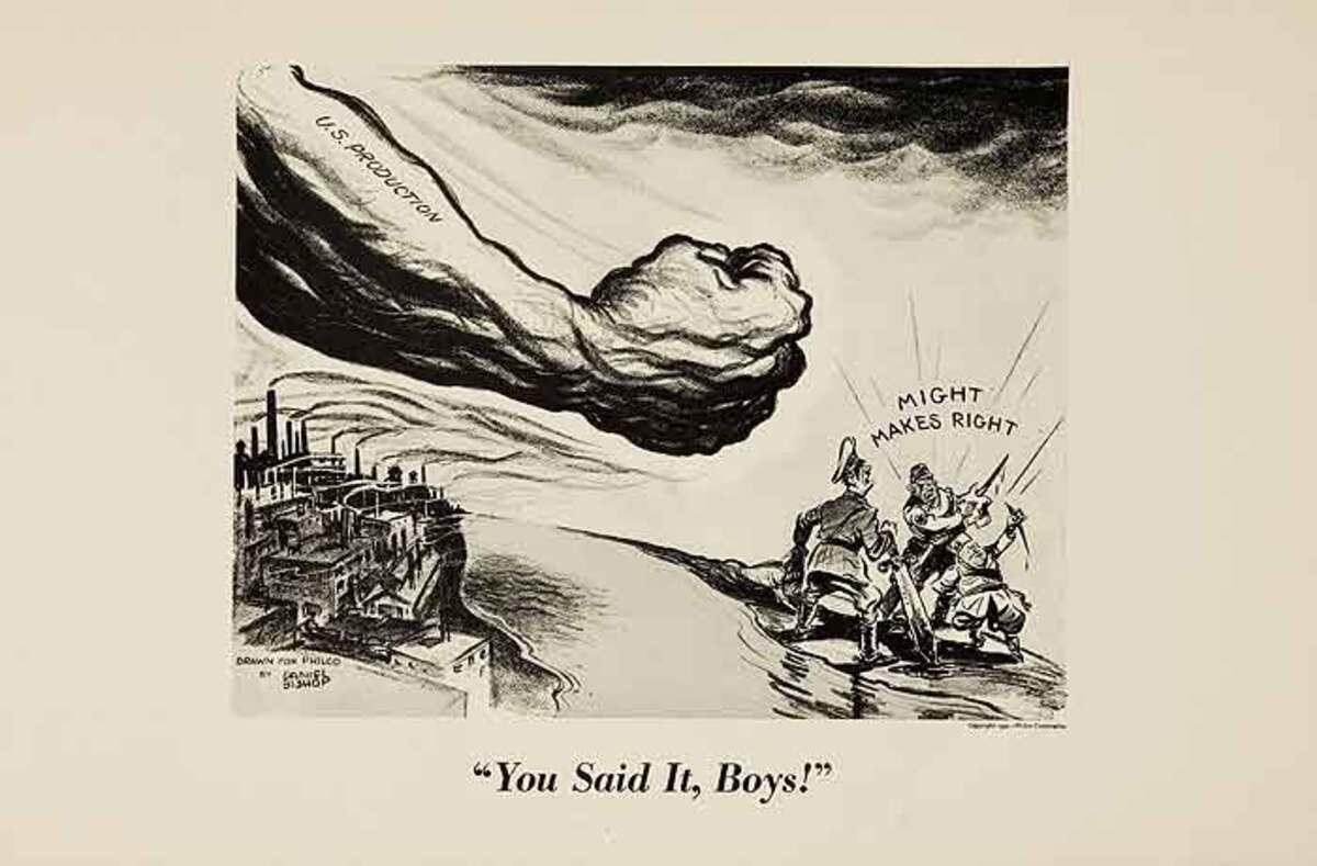 You Said It, Boys! Original WWII Philco Propaganda Poster