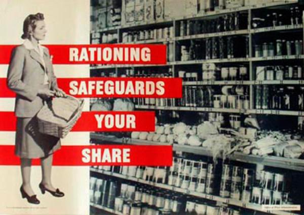 Rationing Safeguards Your Share Original Vintage WWII Poster