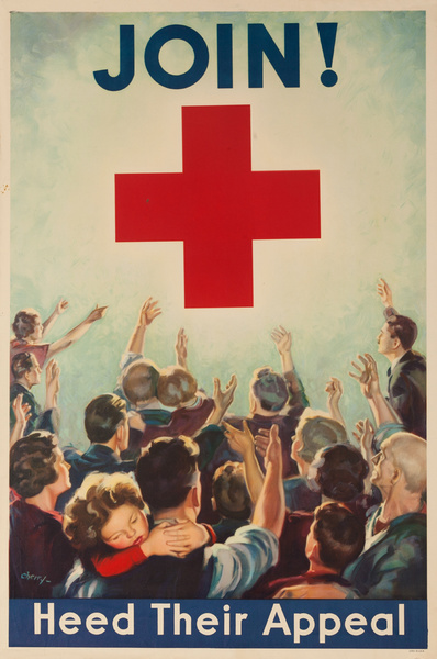 Heed Their Appeal Original Vintage WWII Poster Red Cross