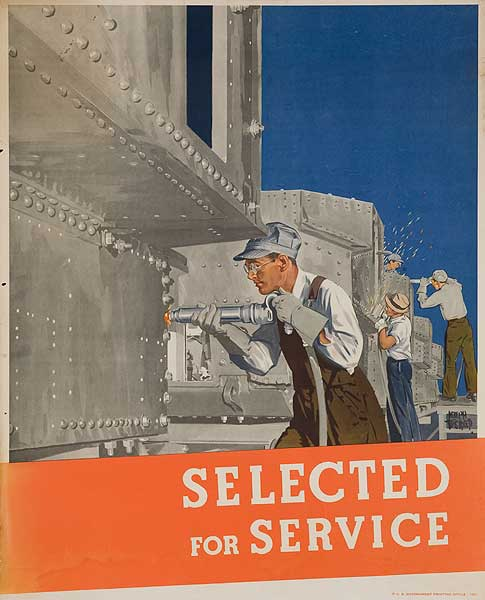 Selected For Service Original WWII Homefront Poster