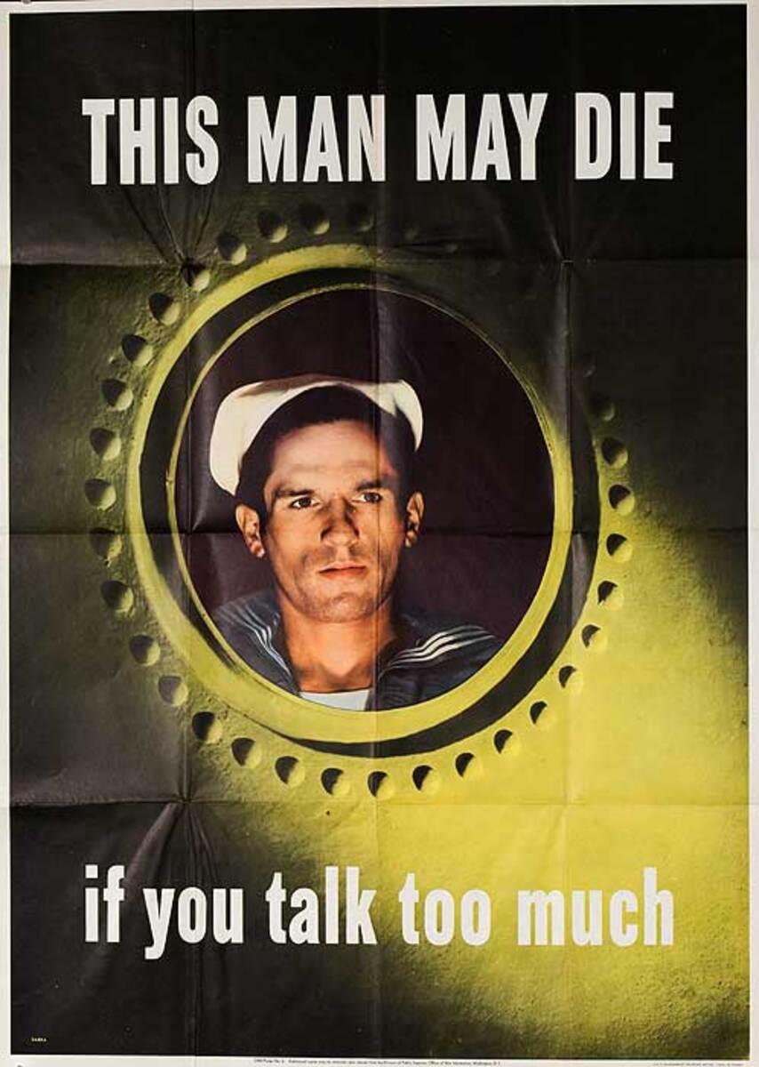 This Man May Die Original Vintage WWII Poster