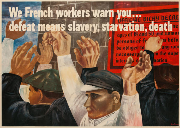 We French Workers Original Vintage WWII Poster