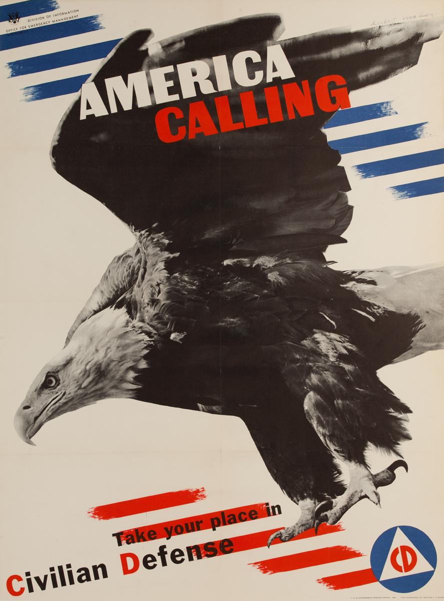 America Calling Original WWII Poster