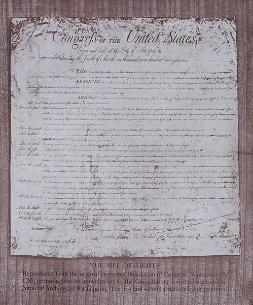 The Bill of Rights Original US Government Issued Propaganda Poster