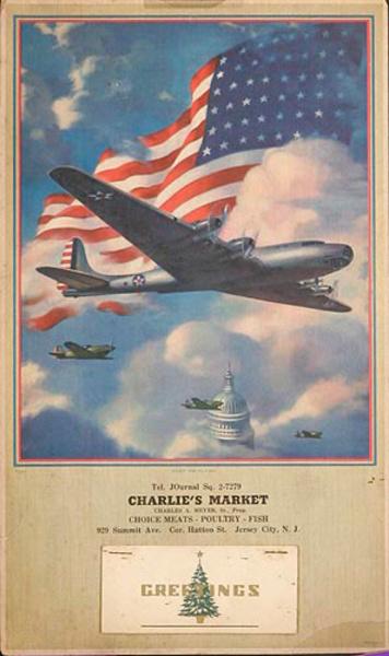 Keep Em Flying Original Patriotic WWII Calendar
